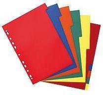 Herlitz Przekładki A4 PP 10-częściowe różne kolory (174277)