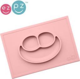 Ezpz Silikonowy Talerzyk z Podkładką 2w1 Happy Mat Pastelowy Róż (EUHMB005)