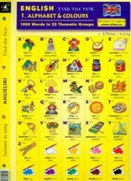 English. Find the pair. Alphabet & colours