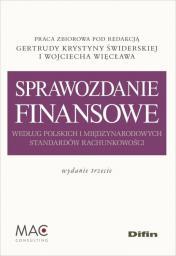 Sprawozdanie finansowe według polskich i międzynarodowych...