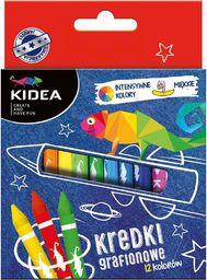 Derform Kredki grafionowe 12 kolorów KIDEA - 246589
