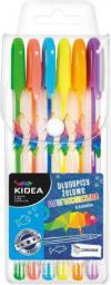 Derform Długopisy żelowe Fluo 6 kolorów Kidea (204582)