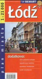 Plan miasta - Łódź 1:21 000