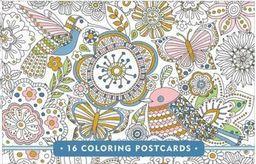 Peter Pauper Press Zestaw pocztówek do kolorowania 16 sztuk