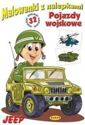 Malowanki z nalepkami. Pojazdy wojskowe. Jeep (248040)