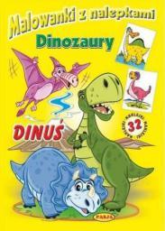 Malowanki z nalepkami. Dinozaury. Dinuś (248045)