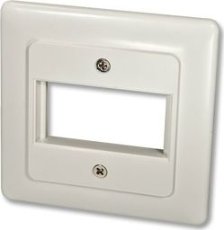 Lindy Face Plate DE for 1 SnapIn Module Face plate with cover 80x80 - 60545