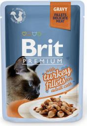 Brit Kot saszetka premium sos TURKEY FILLETS 85g