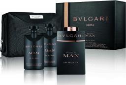 Bvlgari Man In Black Zestaw dla mężczyzn  EDP 100ml + 75ml Balsam po goleniu + 75ml Żel pod prysznic + Kosmetyczka