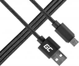Kabel USB Green Cell micro USB,  Nylon,  1m (KAB31M)