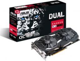 Karta graficzna Asus Radeon Dual RX 580 OC 8GB GDDR5 (256 bit), DVI-D, 2xHDMI, 2xDisplayPort, BOX (DUAL-RX580-O8G)