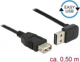 Kabel USB Delock przedłużający Easy-USB, 0.5m, czarny  (85185)
