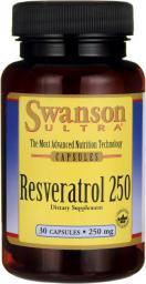 Swanson Resweratrol 250mg 30 kaps.