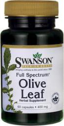 Swanson FS Olive Leaf 400mg 60 kaps.