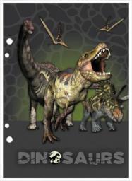 Derform Wkład do segregatora A6 Dinozaur