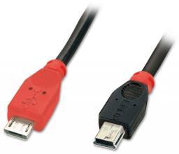 Kabel USB LINDY OTG Micro USB B - Mini USB B, 1m   (31718)