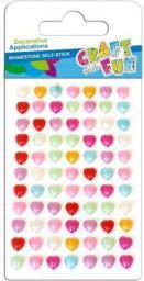 Euro Trade Kryształy samoprzylepne perły serca kolorowe 382484 - WIKR-1061596