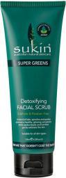 SUKIN SUPER GREENS Detoksykujący scrub do twarzy 125ml