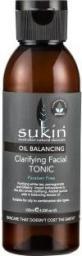 Sukin Oil Balancing Ściągający Tonik do twarzy z aktywnym węglem 125ml