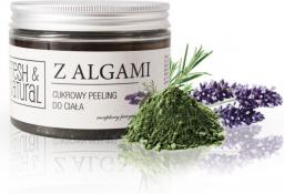 Fresh & Natural Cukrowy peeling do ciała ALGI MORSKIE 550g
