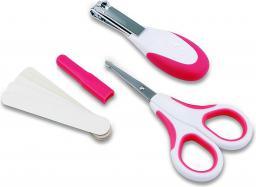Nuvita Zestaw kosmetyczny do paznokci: nożyczki, cążki i 5 pilniczków PINK