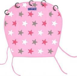 Xplorys Muślinowa osłonka do wózka i fotelika Dooky Design Baby Pink/Pink Stars T-XP-126617