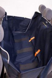 KARDIFF Kardimata Anti Slip z bokami 133x157 granatowa - mata samochodowa na tylne fotele