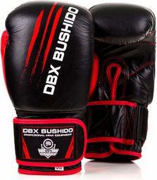 DBX BUSHIDO Rękawice treningowe sparingowe skóra czarno-czerwone r. 10