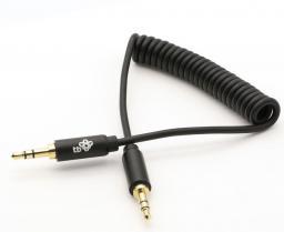 Kabel TB MiniJack 3.5 mm - MiniJack 3.5 mm, 1, Czarny (AKTBXAJCOILED1B)