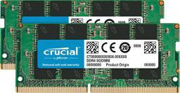 Pamięć do laptopa Crucial SODIMM  DDR4 2x4GB,  2400MHz,  CL17 (CT2K4G4SFS624A)
