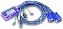 Przełącznik Aten CS-62U   2/1 USB-Audio zintegrowane kable