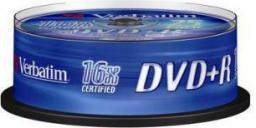 Verbatim DVD+R/25/Cake 4.7GB 16x 43500