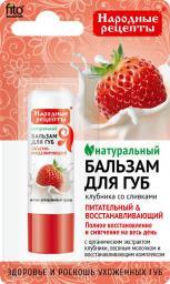 Fitocosmetics Naturalny balsam do ust Truskawki ze śmietaną 4,5g