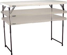 LIFETIME Stół składany biały (4428)