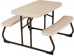 LIFETIME Stół piknikowy dla dzieci składany 83x48 cm (migdałowy)  (280094)