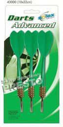 SOLEX SPORTS Rzutki do tarczy zielone (43000)