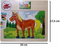 Brimarex Puzzle drewniane. Koń
