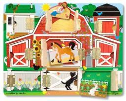 Melissa & Doug Tablica edukacyjna magnetyczna. Otwórz i zamknij. Farma (14592)
