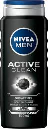 Nivea Active Clean Żel pod prysznic 3w1 500ml