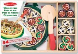 Melissa & Doug Pizza drewniana z bezpiecznym nożykiem, 54 elementy  (10167)