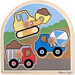 Melissa & Doug Puzzle drewniane - Pojazdy budowlane (13395)