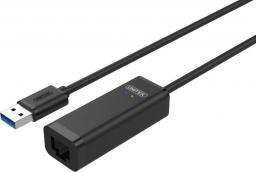 Karta sieciowa Unitek USB - RJ-45 (wtyk-gniazdo) Czarny (Y-1468)