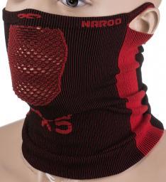 NAROO Maska treningowa X5s czarno-czerwona (STNO:X5sCCZER)