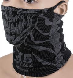 NAROO Maska treningowa X5s Czaszka czarno-szara (STNO:X5sSKULL)