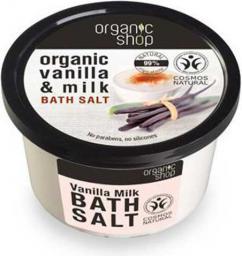 Organic Shop Wanilia i Mleko, Sól do Kąpieli 250ml