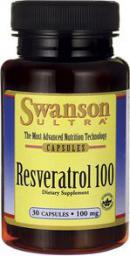 Swanson Resweratrol 100mg 30 kaps.