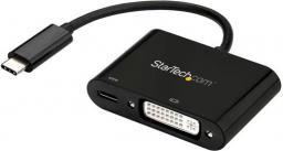 Adapter USB StarTech DVI USB-C, 0.1m, Czarny (CDP2DVIUCP)