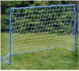 Victoria Sport Bramka do piłki nożnej z siatką niebieska 182x122x61cm