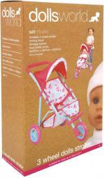 Peterkin Wózek spacerowy trójkołowy dla lalek, 56 cm
