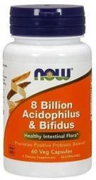 NOW Foods Acidophilus & Bifidus 8 Bilion 60 kapsułek